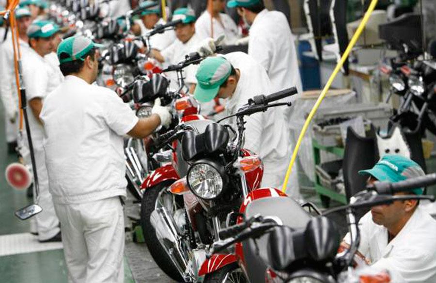 Produção de motos registra queda em Agosto de 2016