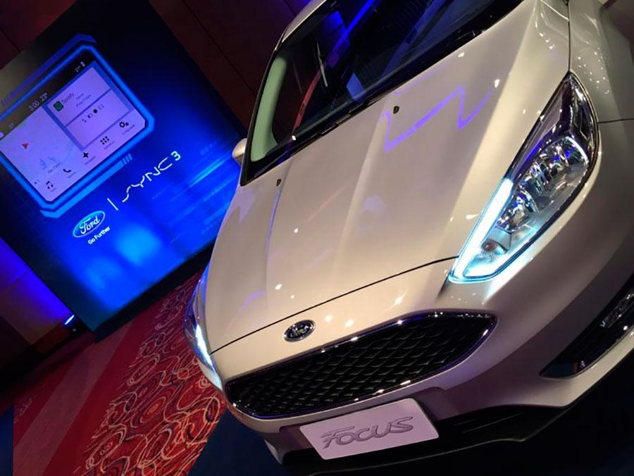 Detalhe da frente do Ford Focus 2017