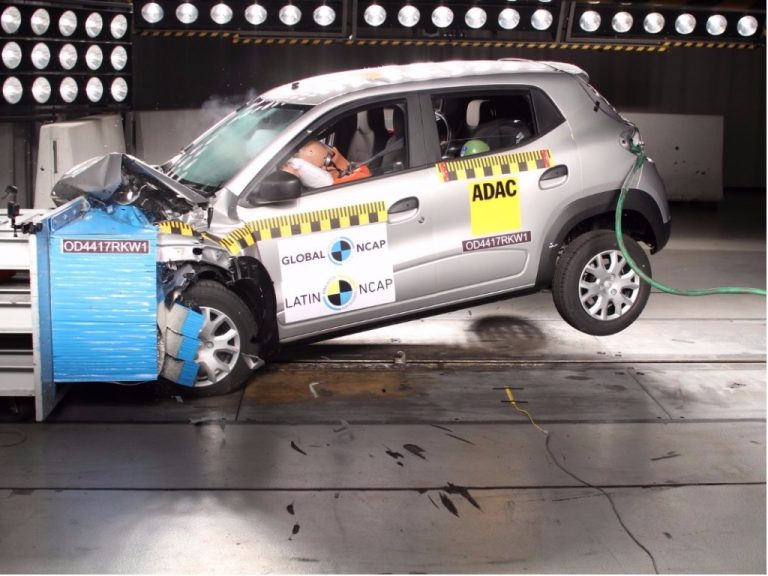 Novo Renault Kwid tira três estrelas no Latin NCAP