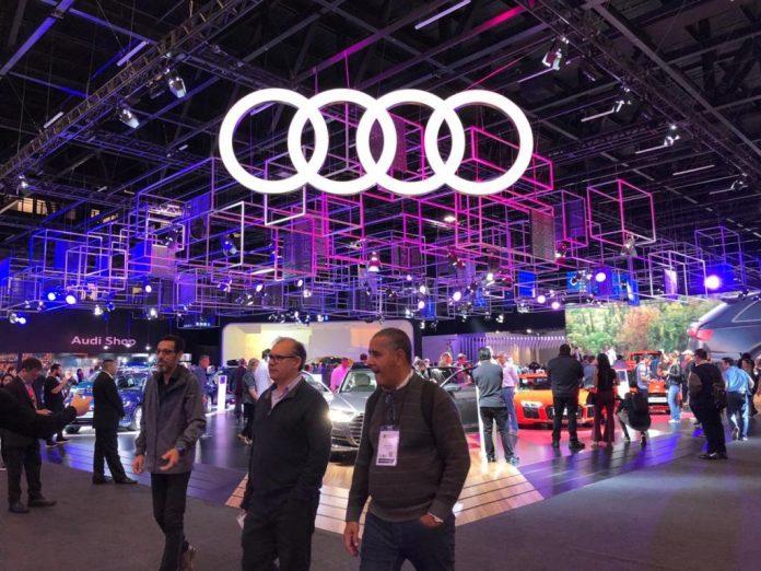 Estande da Audi no salão do Automóvel 2018