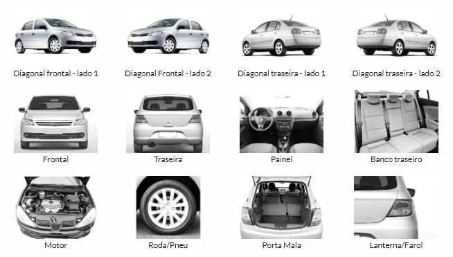 Mostrar os melhores ângulos do carro para fazer um anúncio online