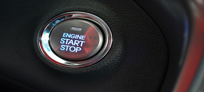 Botão de ligar e desligar o veículo