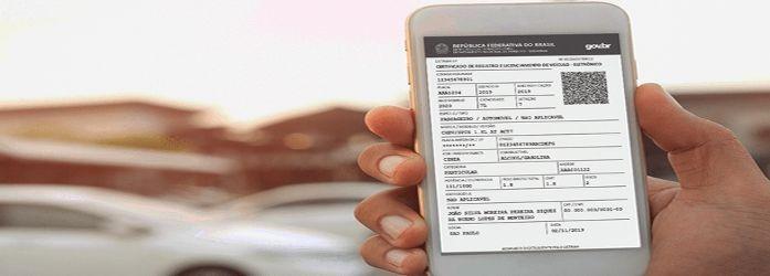 O QR code no documento garante a autenticidade do CRLV digital
