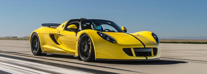 Carros mais rápidos do mundo - Hennessey Venom GT Spyder