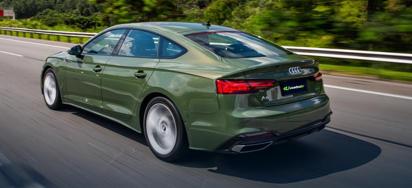 Traseira do novo Audi A5 Sportback Verde