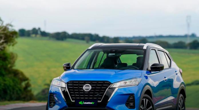 Novo Nissan Kicks 2022 azul