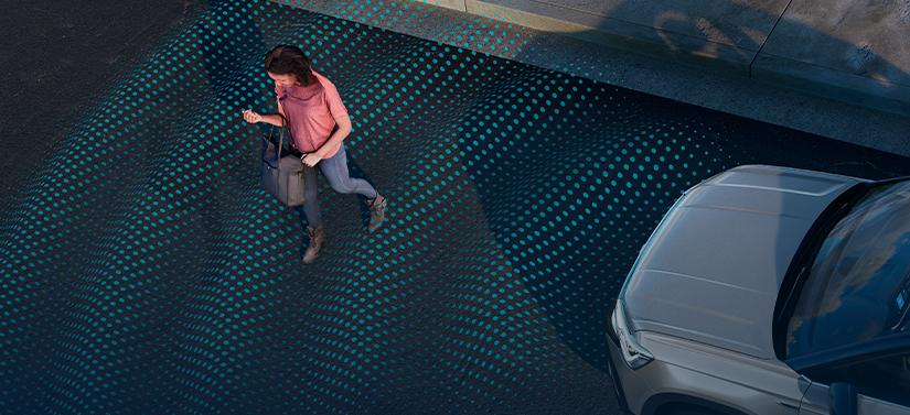 Frenangem autônoma de emergência do Volkswagen Taos