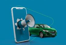 anúncio para vender o carro online