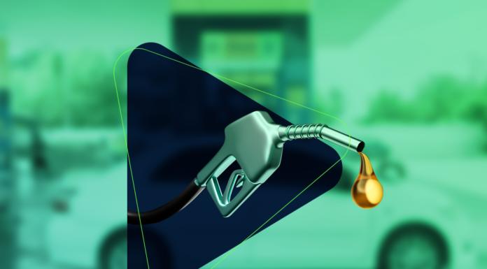 bomba de combustível com gasolina ou etanol