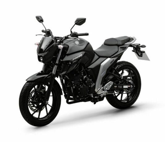 Nova Yamaha Fazer 250 FZ25 preta