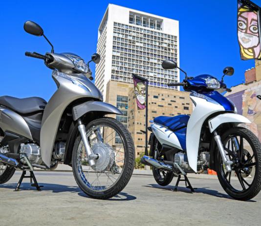 Honda Biz 110i prata e Biz 125 bicolor